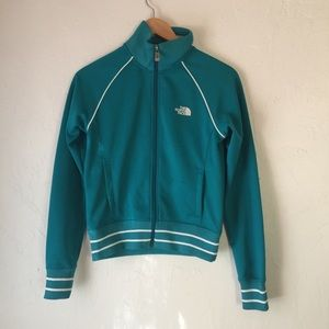 NORTH FACE A5 series green track jacket zip up S
